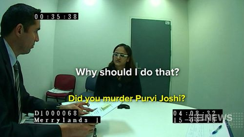 Patel maintained her innocence to police. (9NEWS)