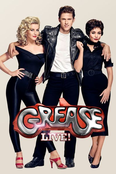 Julianne Hough, Aaron Tveit, Vanessa Hudgens in Grease: Live