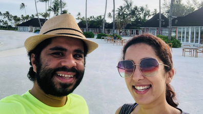 Khaled Mokhatar and Peri Abouzeid  in the Maldives