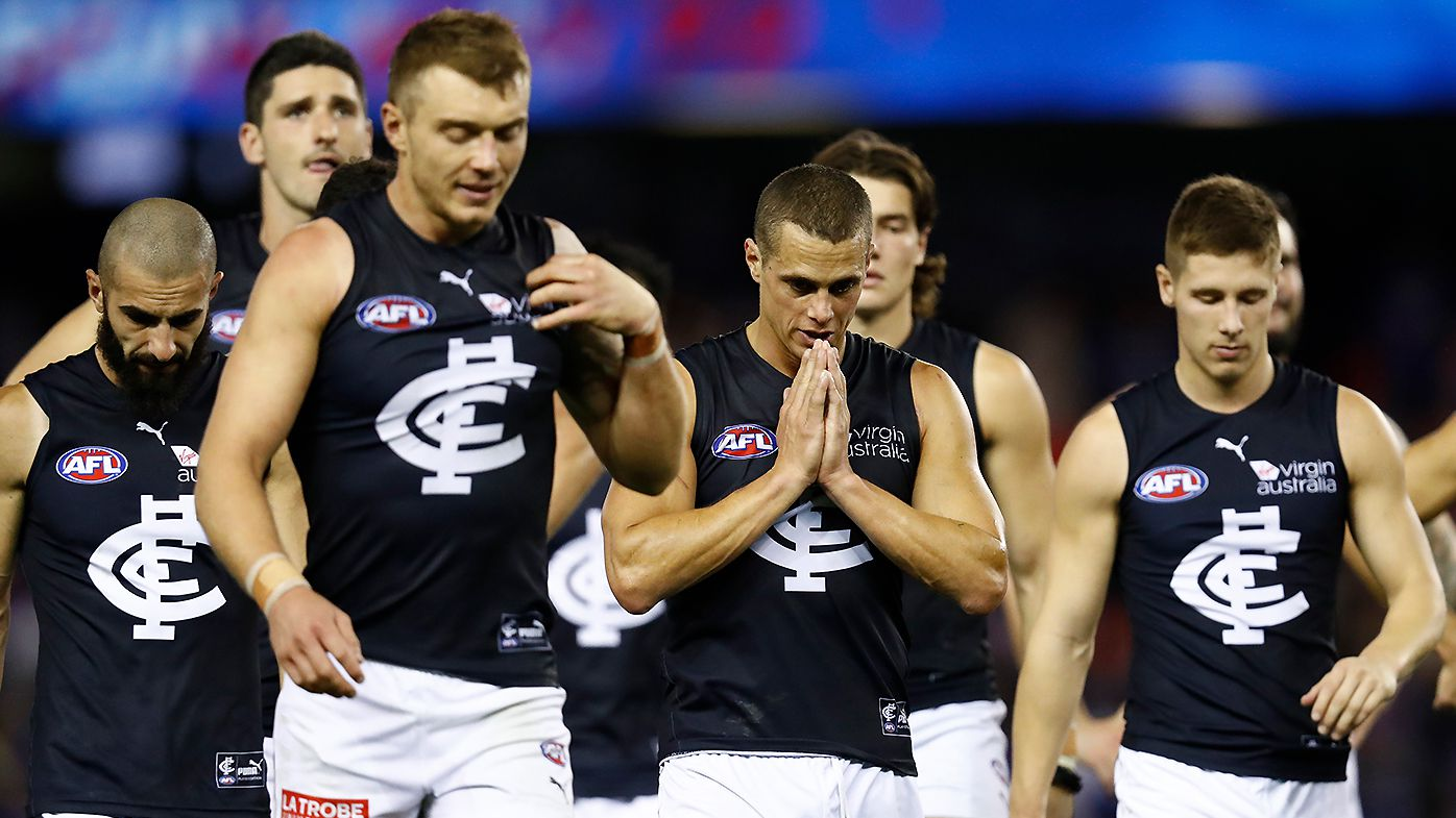 'We're on the right path': Carlton coach David Teague maintaining positivity despite another loss