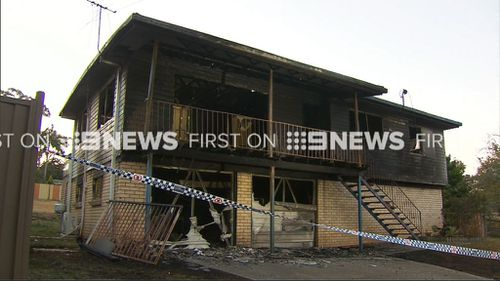 Thankfully no one was home at the time of the blaze. (9NEWS)