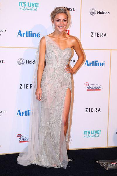 Actress Sam Frost in Leah Da Gloria at the 2018 Logie Awards