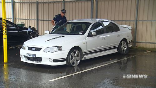 Police were forced to spike the tyres of the car three times before it stopped. Picture: 9NEWS