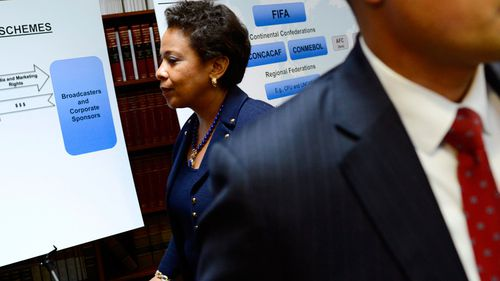 US Attorney General Loretta Lynch said FIFA officials accepted bribes during the bid process for the 2010 World Cup. (AAP)