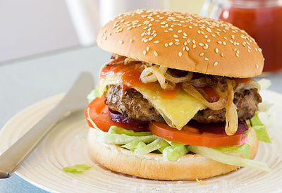 Classic beef burger with cheese