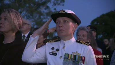 Thousands gather at Kings park for Anzac dawn service