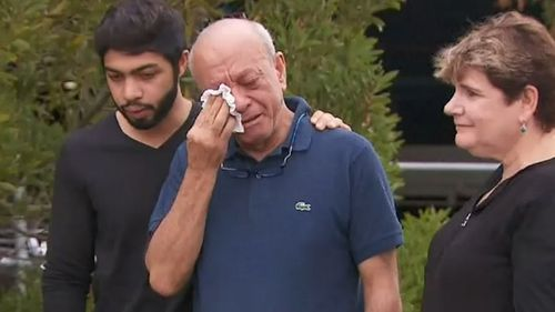 Saeed Maasarwe in Melbourne after his daughter's death.