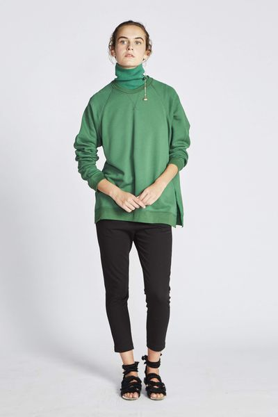 "Stick your neck out in the colour of the season.<br> <br> <a href=""https://leemathews.com.au/collections/knitwear/products/vince-raglan-sweater-juniper"" target=""_blank"">Lee Matthews turtleneck in juniper,$199</a>"
