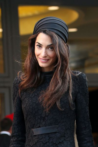 Amal Clooney in Atelier Versace in Vatican City, May 2016