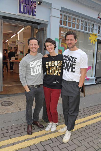 Fleabag stars, Andrew Scott, Phoebe Waller-Bridge, Ben Aldridge, Choose Love event, England, 2019