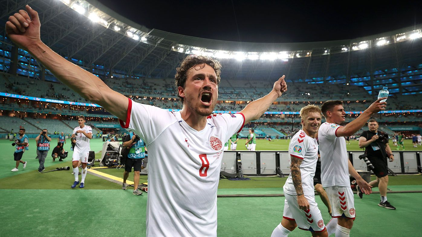 Denmark's Euro run continues with 2-1 win over Czech Republic in quarter-finals
