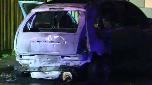 Car gutted in suspicious fire in Melbourne's north