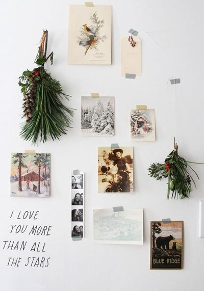 Create a pared-back wall collage