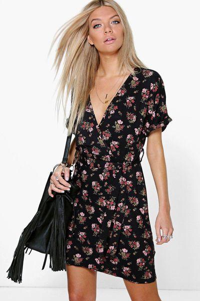 "<a href=""http://au.boohoo.com/violette-floral-tie-waist-wrap-tea-dress/DZZ84978.html"" target=""_blank"">Violette Floral Tie Waist Wrap Tea Dress, $20.</a>"