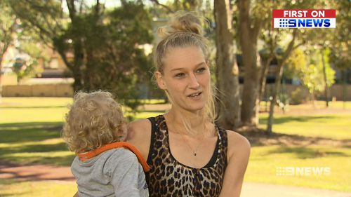 Yani Barwick says she's thankful the phone didn't explode while her son was playing with it. Picture: 9NEWS