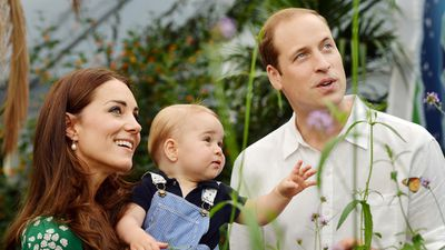 The Duke and Duchess of Cambridge celebrate Prince George's first birthday, 2014