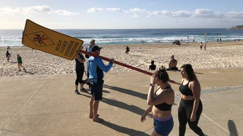 Maroubra is one of many Sydney beaches closed by councils to enforce social distancing.
