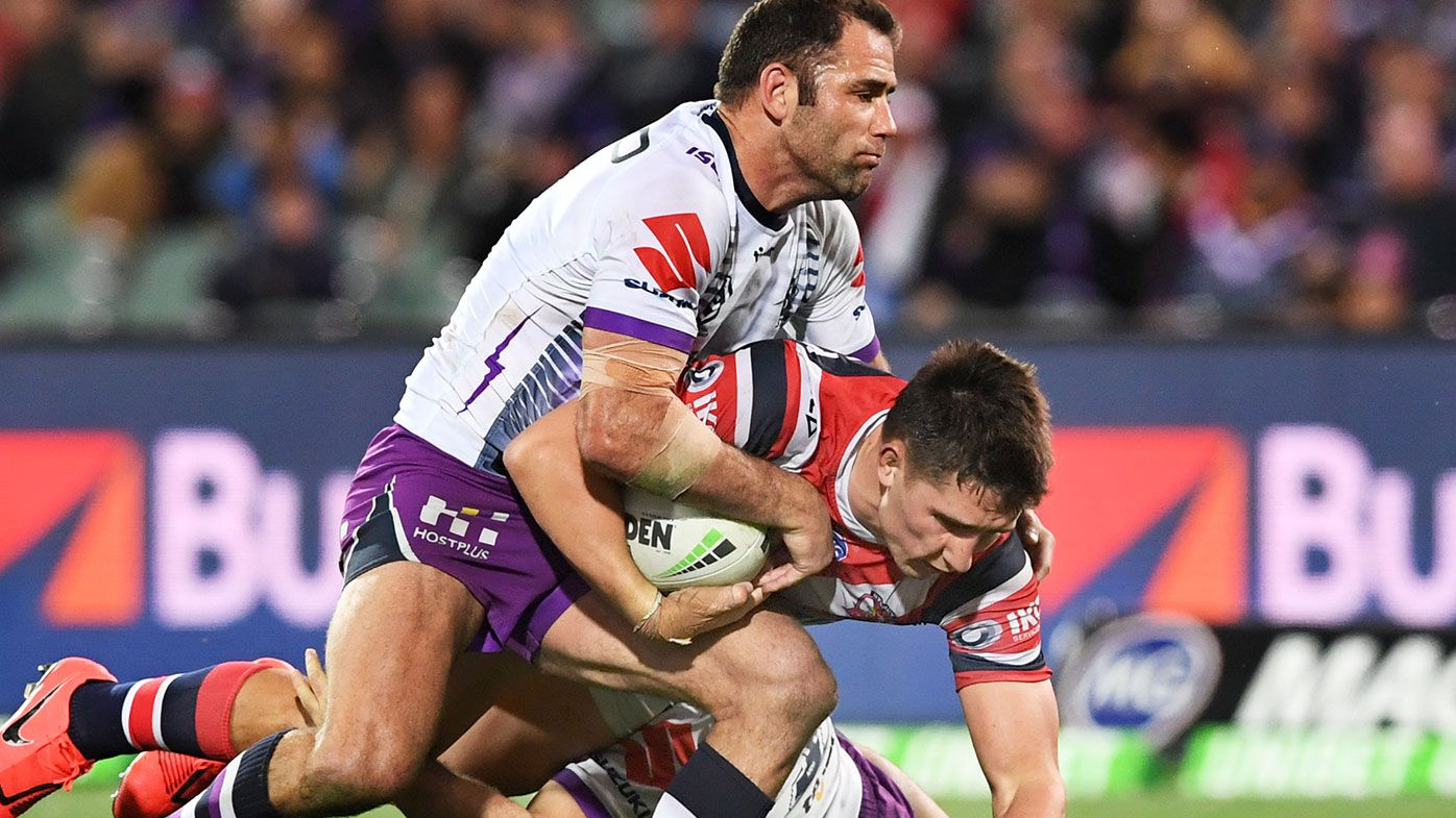 Cameron Smith tackles Victor Radley