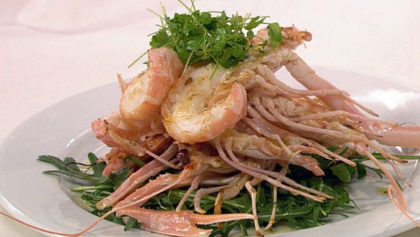 Scampi with sambuca butter