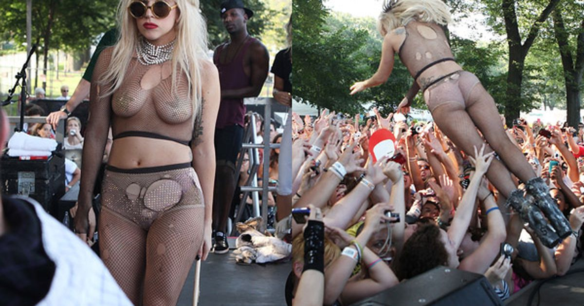 Stripping on lady gaga pokerface goes wrong