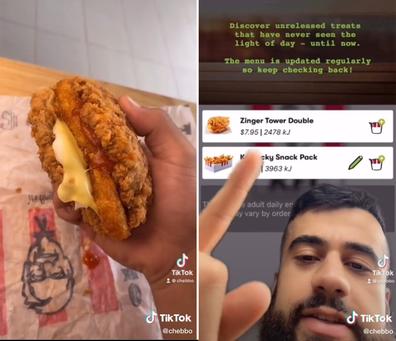 KFC Zinger Tower Double on secret menu