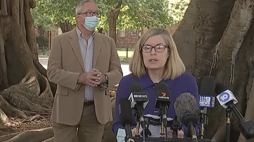Dr Kerry Chant speaks at a press conference October 9, 2021.