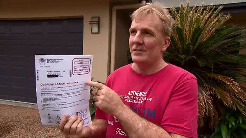 Colin Brock is refusing to pay a $706 fine he said had no idea existed for four years.