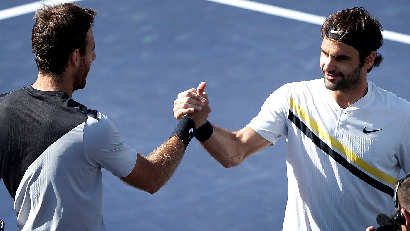 del Potro and Federer celebrate