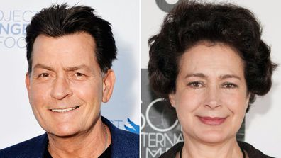 Charlie Sheen and Sean Young.
