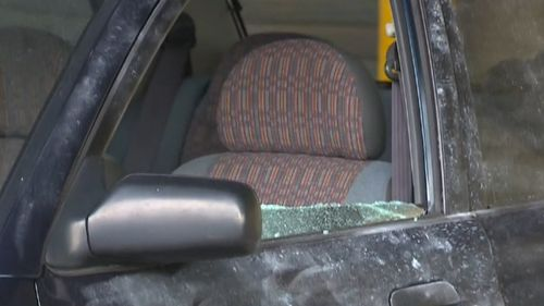 The man smashed a window and held a gun at the three teens forcing them to hand over their belongings. Image: 9News