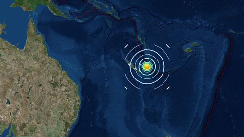 The earthquake's epicentre (Image: US Geological Survey)