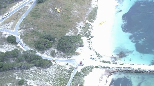 The jetty collapsed this morning, trapping a woman and injuring a boy and his mother.