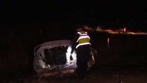 Driver dies in fiery crash in Echuca