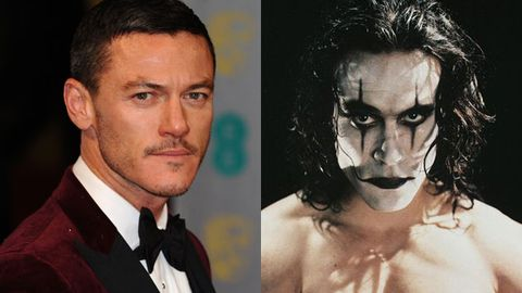 Luke Evans / Brandon Lee as Eric Draven in 1994's The Crow. Image credit: WireImage/Getty