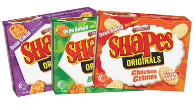 Arnott's Shapes: Pizza, Barbecue, Chicken Crimpy