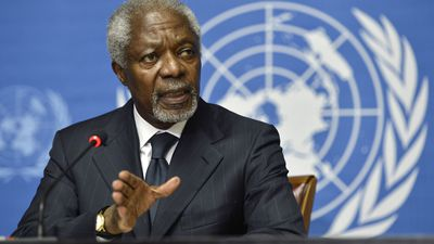 Former UN secretary-general Kofi Annan dies, aged 80