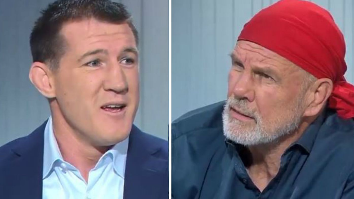 Paul Gallen and Peter FitzSimons clash during Sports Sunday