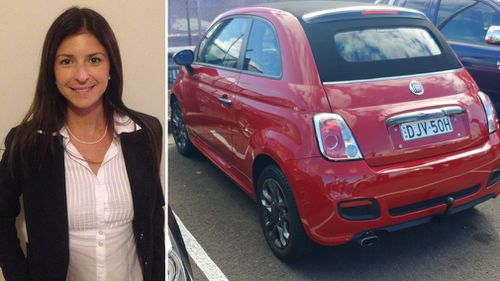 Ms Haddad was last seen in her red Fiat the day before her body was found in the Lane Cove River. Picture: Supplied