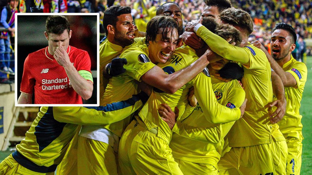 Football: Villarreal strike late to dent Liverpool Europa hopes