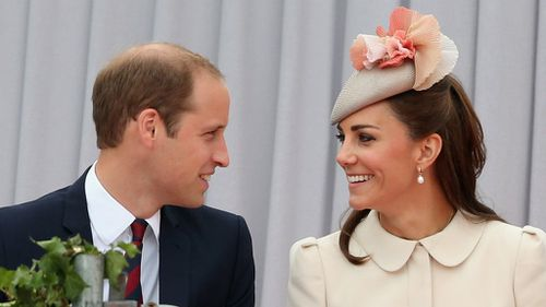 The Duke and Duchess of Cambridge share a moment. (AAP)
