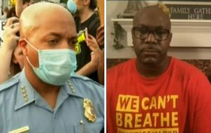 George Floyd's brother breaks down as police chief says all officers involved in his death were 'complicit'