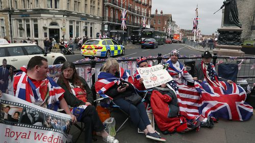 Well-wishers are already camping out in Windsor. (AAP)
