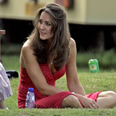 Kate Middleton watches Prince William playing polo, June 2006