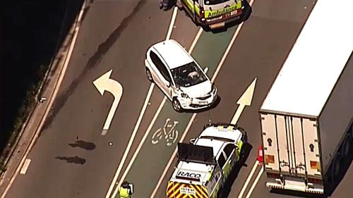 Truckie dies in multi-vehicle crash near Brisbane Airport