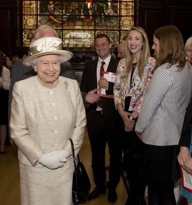 Her Majesty attends a journalism charity convention in 2014.