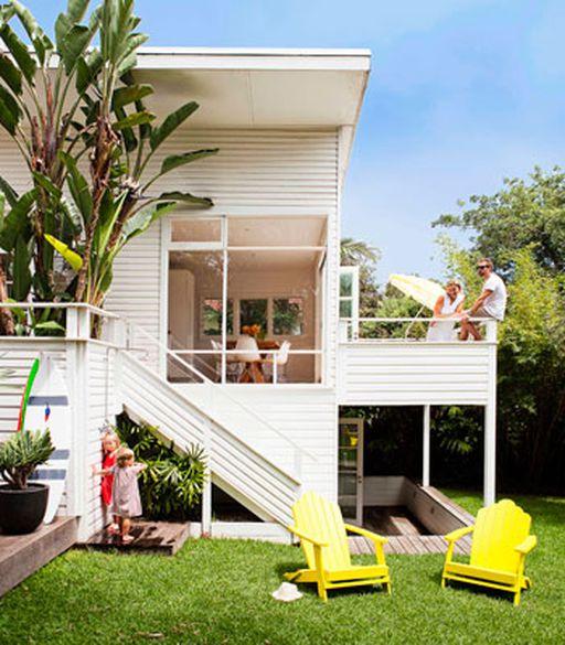 sun trap 1950s beach cottage renovation 9homes - Beach House Design 1950s