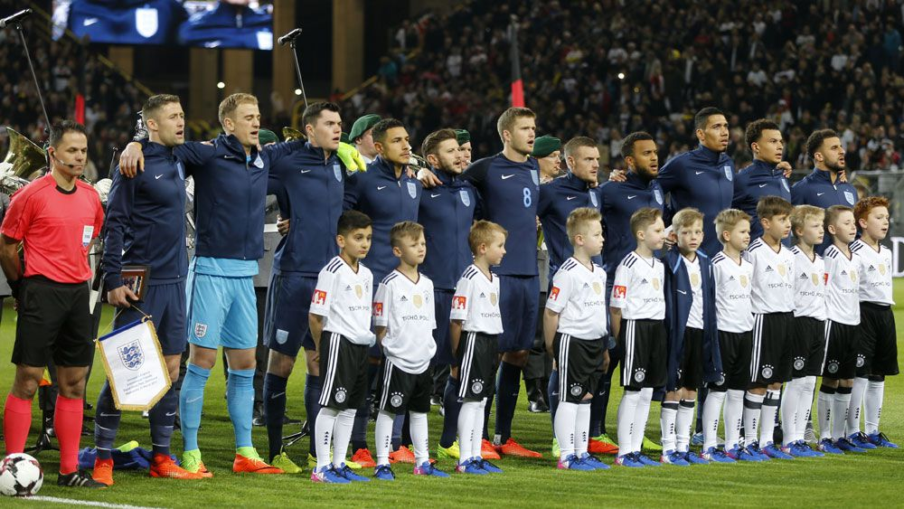 England fans deliver rousing national anthem in Germany following terror attacks in London
