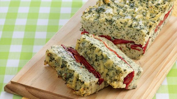Spinach ricotta and pasta loaf