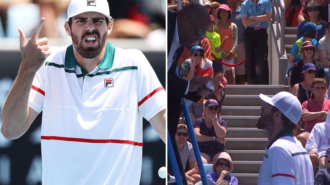 Reilly Opelka left to rue foul-mouthed tirade at umpire after coughing up two-set lead to Fabio Fognini