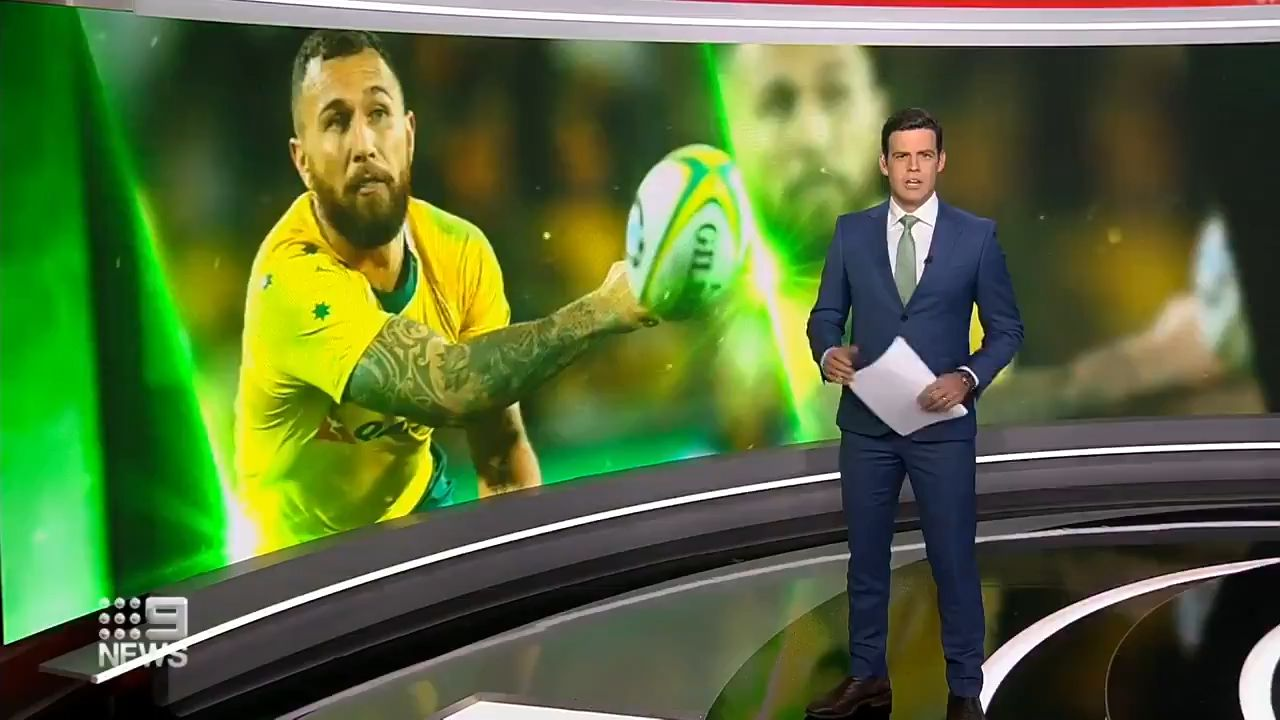 Quade Cooper links up with Wallabies squad ahead of Bledisloe Cup